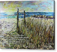 Grassy Beach Post Morning Psalm 118 Acrylic Print
