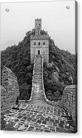 Acrylic Print featuring the photograph Great Wall 1, Jinshanling, 2016 by Hitendra SINKAR