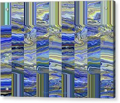 Grate Art - Blue And Green Images - Manipulated Photography Acrylic Print