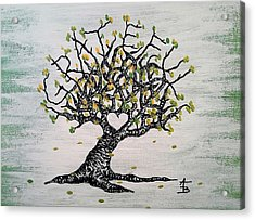 Acrylic Print featuring the drawing Grateful Love Tree by Aaron Bombalicki