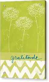 Gratitude Acrylic Print by Linda Woods