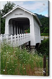 Grave Creek Bridge Acrylic Print by Methune Hively