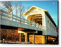Grave Creek Covered Bridge Acrylic Print