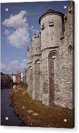 Gravensteen Ghent Acrylic Print by Carol Japp
