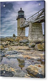 Acrylic Print featuring the photograph Gray Day At Marshall Point by Rick Berk