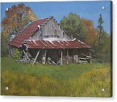 Gray Farm Building Acrylic Print