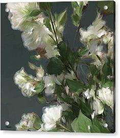 Gray Floral 09 Acrylic Print