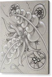 Gray Garden Explosion Acrylic Print by Jan Steinle