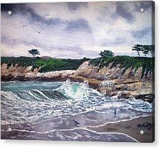 Gray Morning At Santa Cruz Acrylic Print