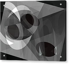 Gray On Gray Acrylic Print by Lynda Lehmann
