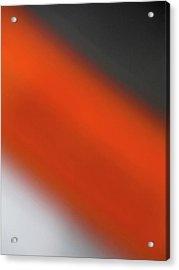 Gray Orange Grey Acrylic Print by CML Brown