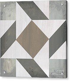Gray Quilt Acrylic Print