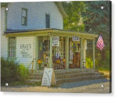 Gray's Store In Little Compton Rhode Island Acrylic Print