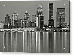 Grayscale Louisville Lights Acrylic Print