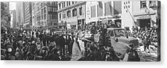 Grayscale Parade For 1998 World Series Acrylic Print by Panoramic Images