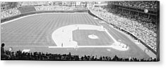Grayscale Wrigley Field, Chicago, Cubs Acrylic Print by Panoramic Images
