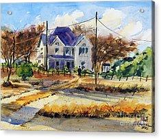 Grayson County Farmhouse Acrylic Print by Ron Stephens