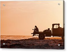 Grayton Beach Flatbed Sunset Acrylic Print