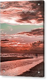 Grayton Red Sunset Acrylic Print