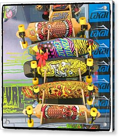 Great Art On These Skateboards! Acrylic Print