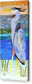 Great Blue Heron 2 Acrylic Print by Charles McDonell