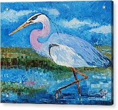 Great Blue Heron Acrylic Print by Doris Blessington