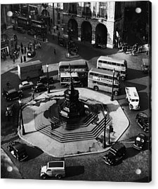 Great Britain. Piccadilly Circus Acrylic Print by Everett
