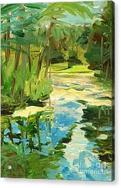 Great Brook Farm Canoe Launch Acrylic Print