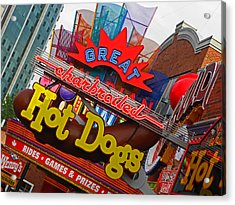 Great Charbroiled Hot Dogs Acrylic Print by Elizabeth Hoskinson