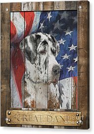 Great Dane Flag Poster Acrylic Print by Tim Wemple