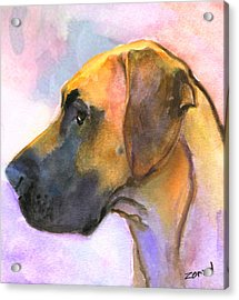 Great Dane Acrylic Print by Mary Jo Zorad
