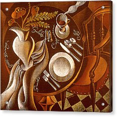 Acrylic Print featuring the painting Great Dining by Leon Zernitsky