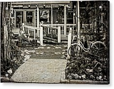Acrylic Print featuring the photograph Great Eats At The Old Time Fishing Camp   -   Fishrestaurantbwantiq120933 by Frank J Benz