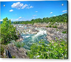 Great Falls On The Potomac Acrylic Print