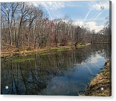 Great Falls Park Along The Towpath - Maryland - C And O Canal Acrylic Print by Brendan Reals