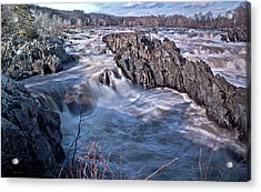 Acrylic Print featuring the photograph Great Falls Virginia by Suzanne Stout