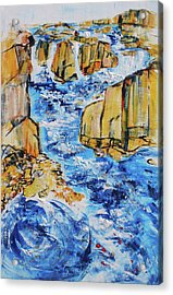 Great Falls Waterfall 201754 Acrylic Print by Alyse Radenovic