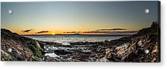 Great Head Beach Sunrise Acrylic Print by Brent L Ander