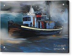 Great Lakes Tugboat Acrylic Print by Bob Salo