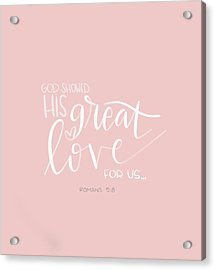 Great Love Acrylic Print