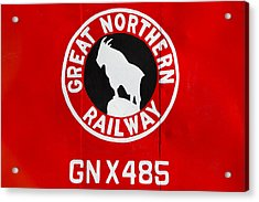 Great Northern Caboose Acrylic Print by Todd Klassy