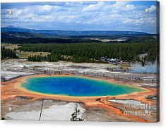 Great Prismatic Spring   Acrylic Print