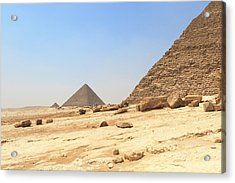 Acrylic Print featuring the photograph Great Pyramids Of Gizah by Silvia Bruno