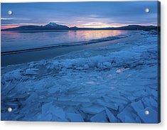 Great Salt Lake Ice Sheets Acrylic Print