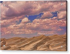Great Sand Dunes And Great Clouds Acrylic Print by James BO  Insogna