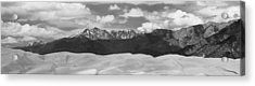 Great Sand Dunes Panorama 1 Bw Acrylic Print by James BO  Insogna