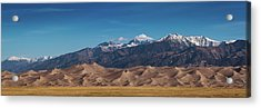 Acrylic Print featuring the photograph Great Sand Dunes Panorama 3to1 by Stephen Holst
