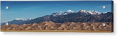 Acrylic Print featuring the photograph Great Sand Dunes Panorama 4to1 by Stephen Holst