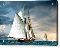 Great Schooner Race Acrylic Print by Fred LeBlanc