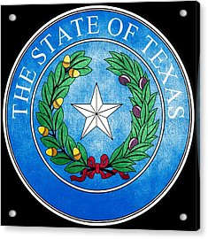 Great Seal Of The State Of Texas Acrylic Print by Fry1989